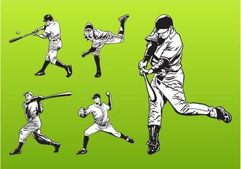 Baseball Players Set - Free vector #139019