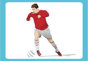 Soccer Player Graphics - Free vector #139029
