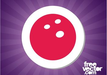 Bowling Sticker - vector #139049 gratis