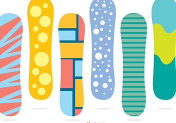 Snowboard Color Vector Pack - Kostenloses vector #139059