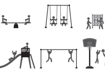 Playground Game Vectors - vector gratuit #139099
