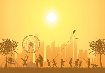 Free Vector Kids Playing In The Park - vector #139109 gratis