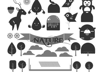 Happy Forest Vector Pack - бесплатный vector #139169