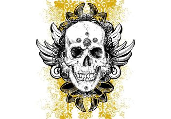Skull Vector Wicked Illustration - бесплатный vector #139219