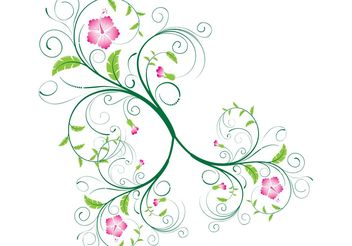 Vector Swirls and Floral Swirls - vector gratuit #139379