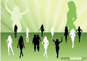 Fashion Silhouettes - Free vector #139399
