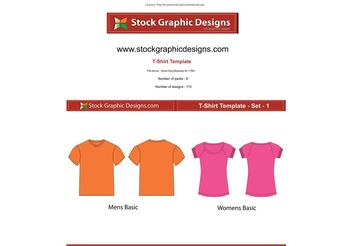 Vector T-Shirt Templates - Kostenloses vector #139589