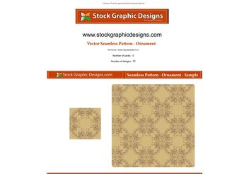 Vector Seamless Pattern-Ornament - vector #139619 gratis