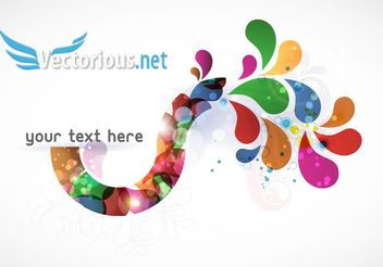 Background Vector Abstract Colorful Illustration - vector #139629 gratis