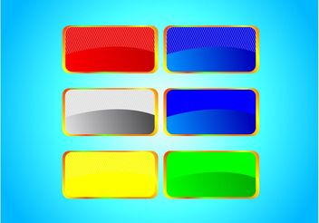 Bright Banner Set - vector gratuit #139909