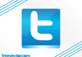 Twitter Button Graphics - vector gratuit #139959