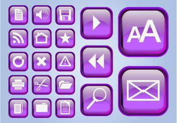 Glossy Interface Icons - Kostenloses vector #139979