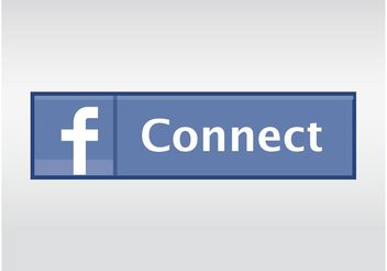 Facebook Connect Button - vector gratuit #139989