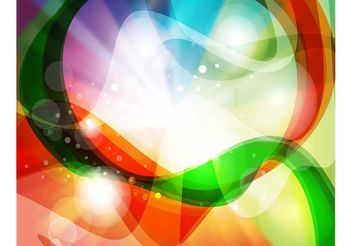 Rainbow Swirls Background - Free vector #140009