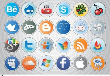 Social Media Buttons - vector gratuit #140019