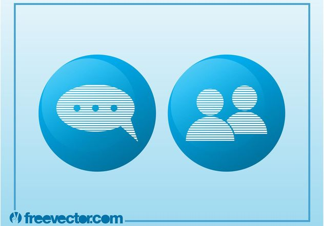 iconos de chat - vector #140039 gratis