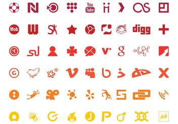 Technology Logos Set - vector gratuit #140049