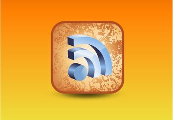 RSS 3D Icon - vector #140089 gratis