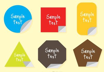 Sticker Text Box Vector - vector gratuit #140099