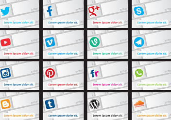 Social Media Keyboard Vectors - vector gratuit #140119