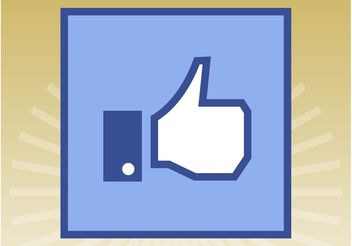 Facebook Like Icon - vector gratuit #140179