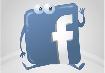 Facebook Logo Cartoon - vector gratuit #140219