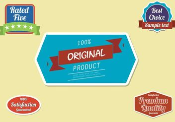 Free Label Vector Set - Kostenloses vector #140239