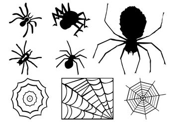 Spiders And Webs Graphics - Free vector #140249