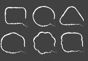 Chalk Drawn Speech Bubble Vector Pack - Free vector #140299