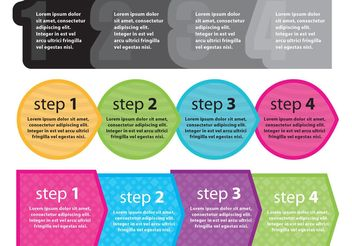 Next Steps Shapes - Free vector #140309