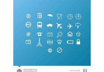 Travel Icons - vector gratuit #140349