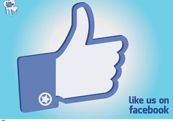 Facebook Like Hand - vector gratuit #140429
