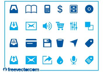 Web And Tech Icons - Free vector #140719
