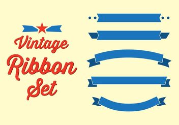 Vintage Ribbon Set - vector gratuit #140749