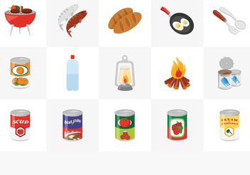 Free Camp Food Vector Icon Set - Kostenloses vector #140779