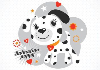 Free Vector Cartoon Dalmatian Puppy - vector gratuit #140819