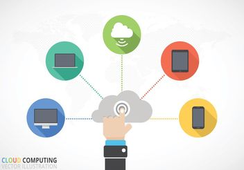 Free Cloud Computing Vector Concept - бесплатный vector #140849