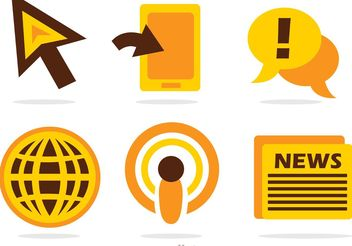 News Mass Media Icons Vector - Free vector #140859