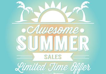 Summer Sale Illustration - vector gratuit #140869