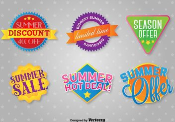 Summer Deals Labels - vector gratuit #140889