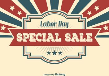 Labor Day Sale Illustration - vector gratuit #140919