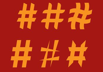 Simple Hashtag Vectors - Free vector #140969