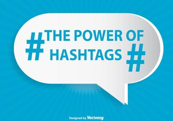 Hashtag Illustration - Free vector #140989
