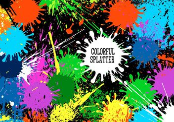 Free Vector Colorful Splatter Background - Kostenloses vector #141059
