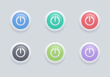 Free Vector Glossy On Off Button Set - Kostenloses vector #141069