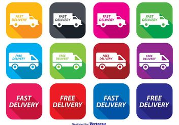 Fast Delivery Icon Set - vector gratuit #141109