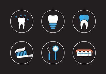 Dental icons - Free vector #141119