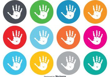 Child Handprint Icons - vector gratuit #141179