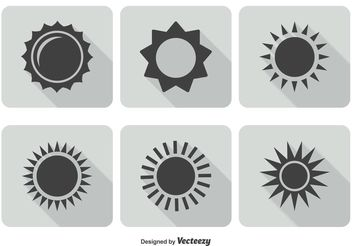 Trendy Sun Icon Set - Kostenloses vector #141189