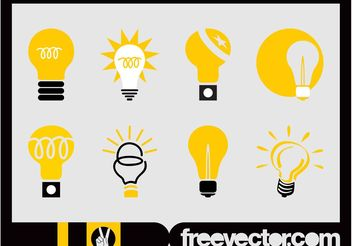 Lightbulbs Icon Set - vector gratuit #141209